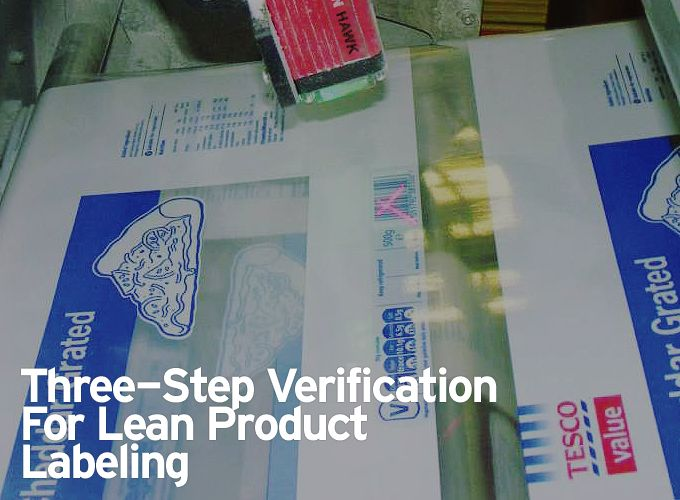 Three-Step Verification for Lean Product Labeling