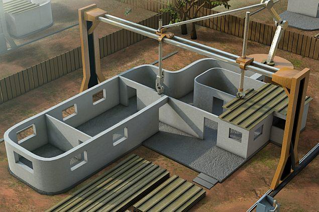 Construction Companies Are Coming Up With Ways To Build Houses Using  Form Shaping To Build An Entire House By Printing It With A 3D BIM House  Printer.
