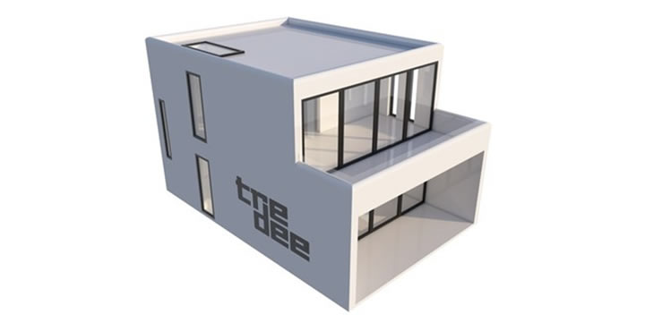 Newly introduced patented tredee 3D printed home.